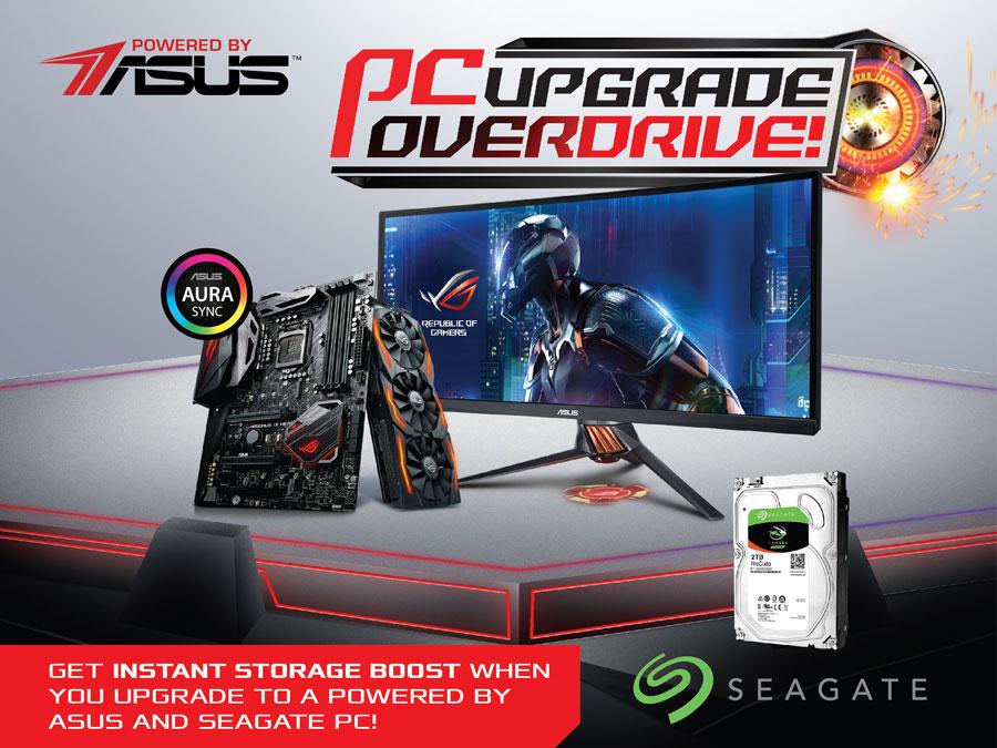 ASUS and Seagate Announces PC Upgrade Overdrive Promo