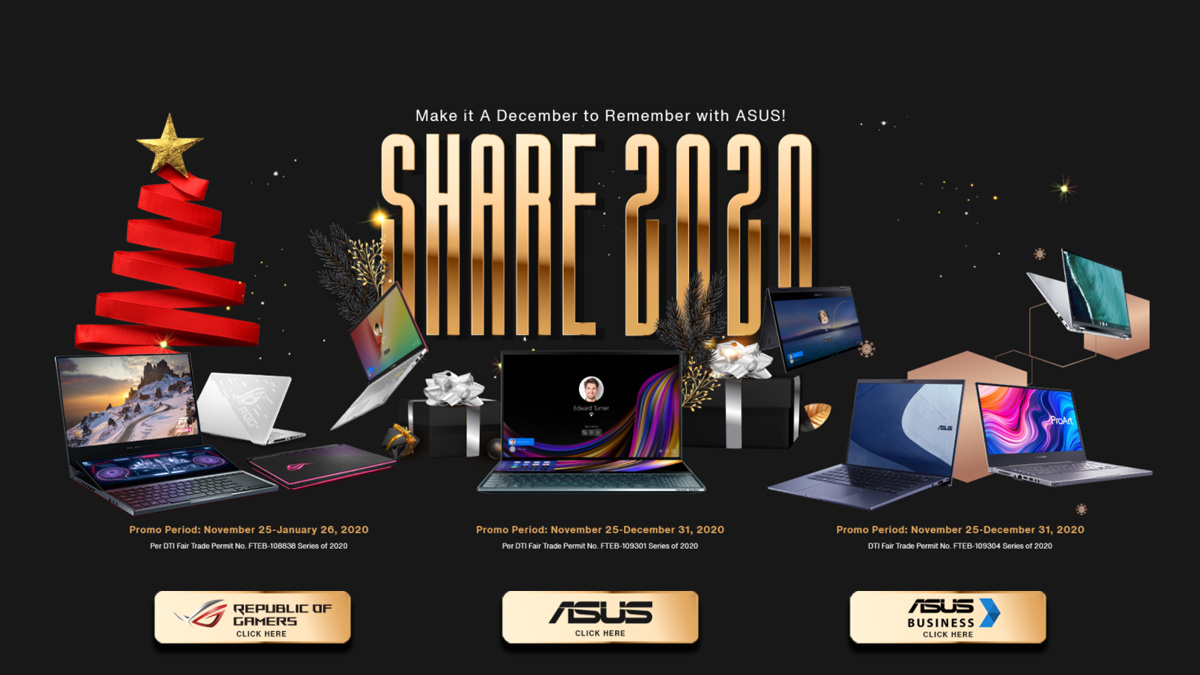 ASUS Share 2020 Promotional Event is Here