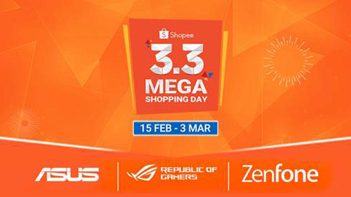 ASUS Joins Shopee 3.3 2019 Mega Shopping Sale