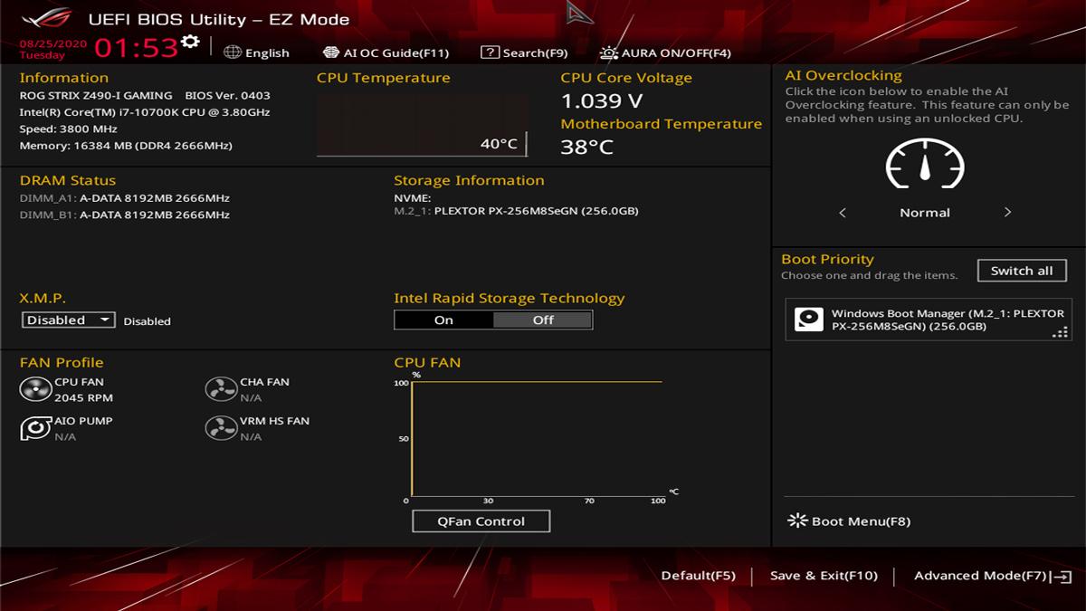 ASUS Z490 I Gaming BIOS UEFI 1