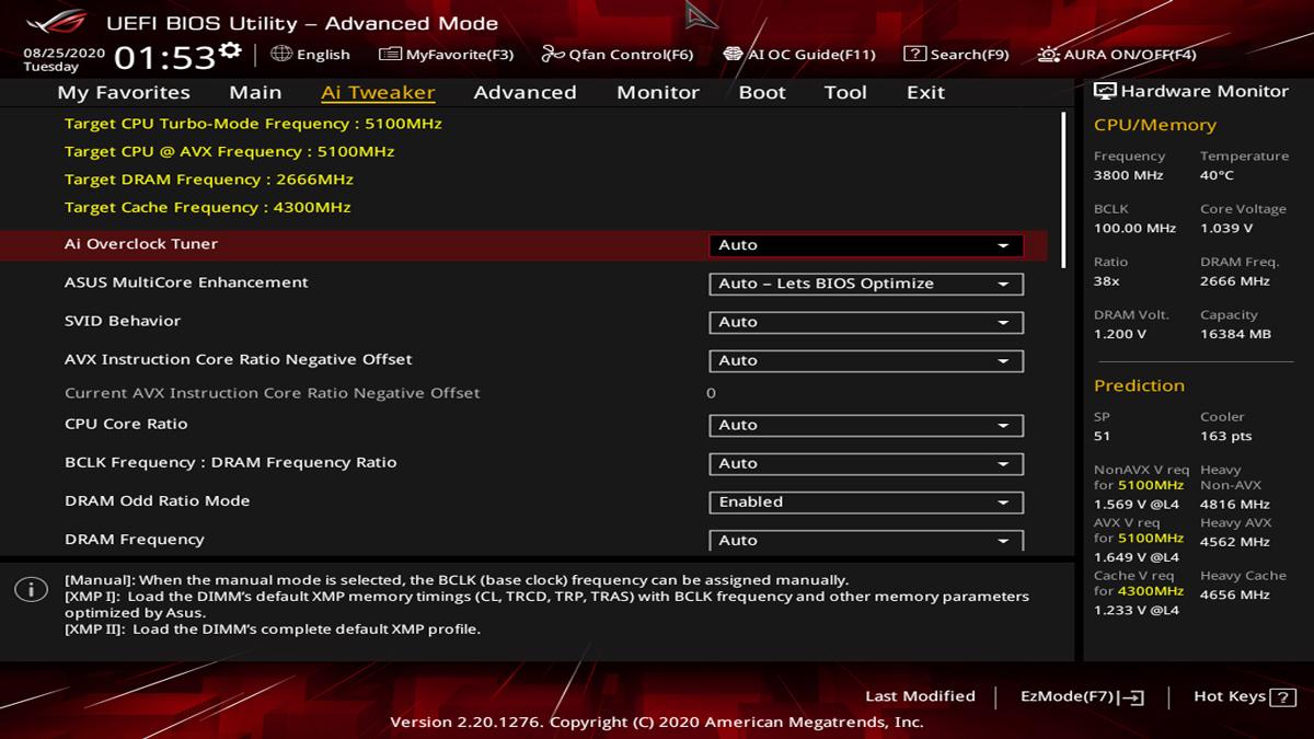 ASUS Z490 I Gaming BIOS UEFI 2