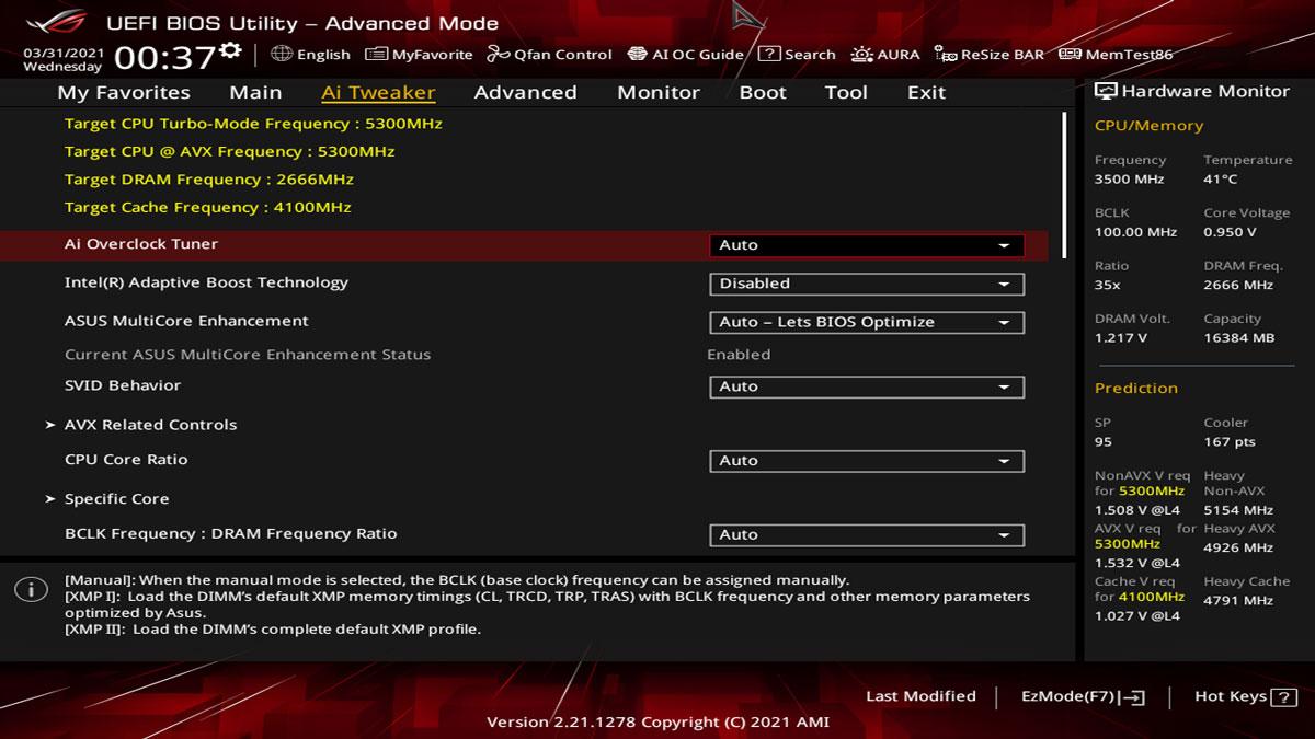 ASUS Z590 I Gaming BIOS UEFI 7