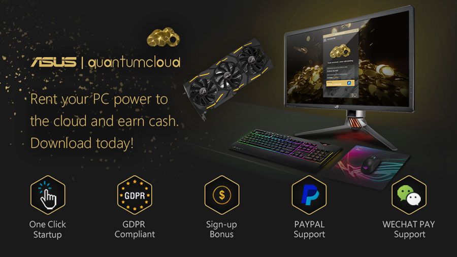 ASUS Allows Gamers To Mine Cryptocurrency With Quantumcloud