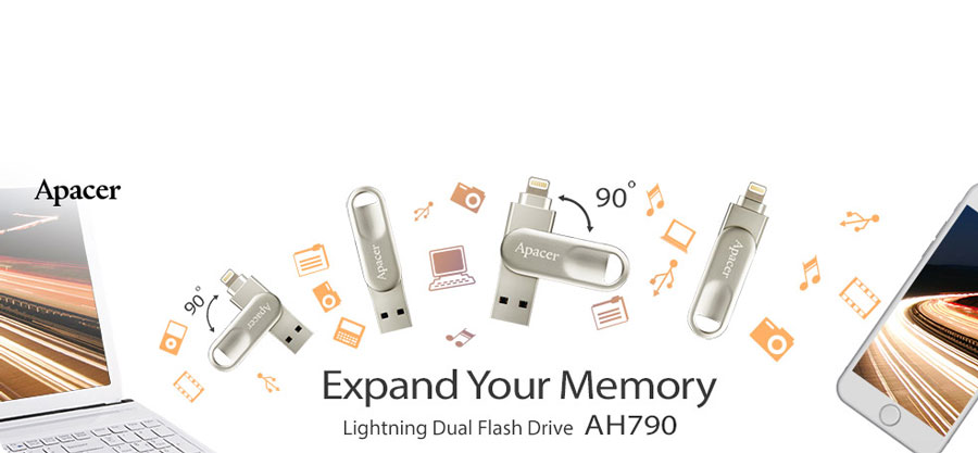 Apacer Intros AH790 Lightning Flash Drive for Apple Devices