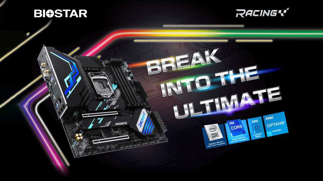 BIOSTAR Showcases RACING B560GTQ and RGB RAM Combo