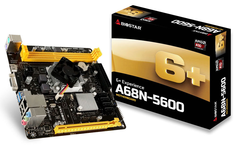 BIOSTAR Rolls Out A68N-5600 SoC Motherboard for SFF and HTPCs