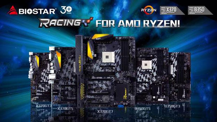 BIOSTAR Readies RACING Series Motherboard Lineup for AMD RYZEN