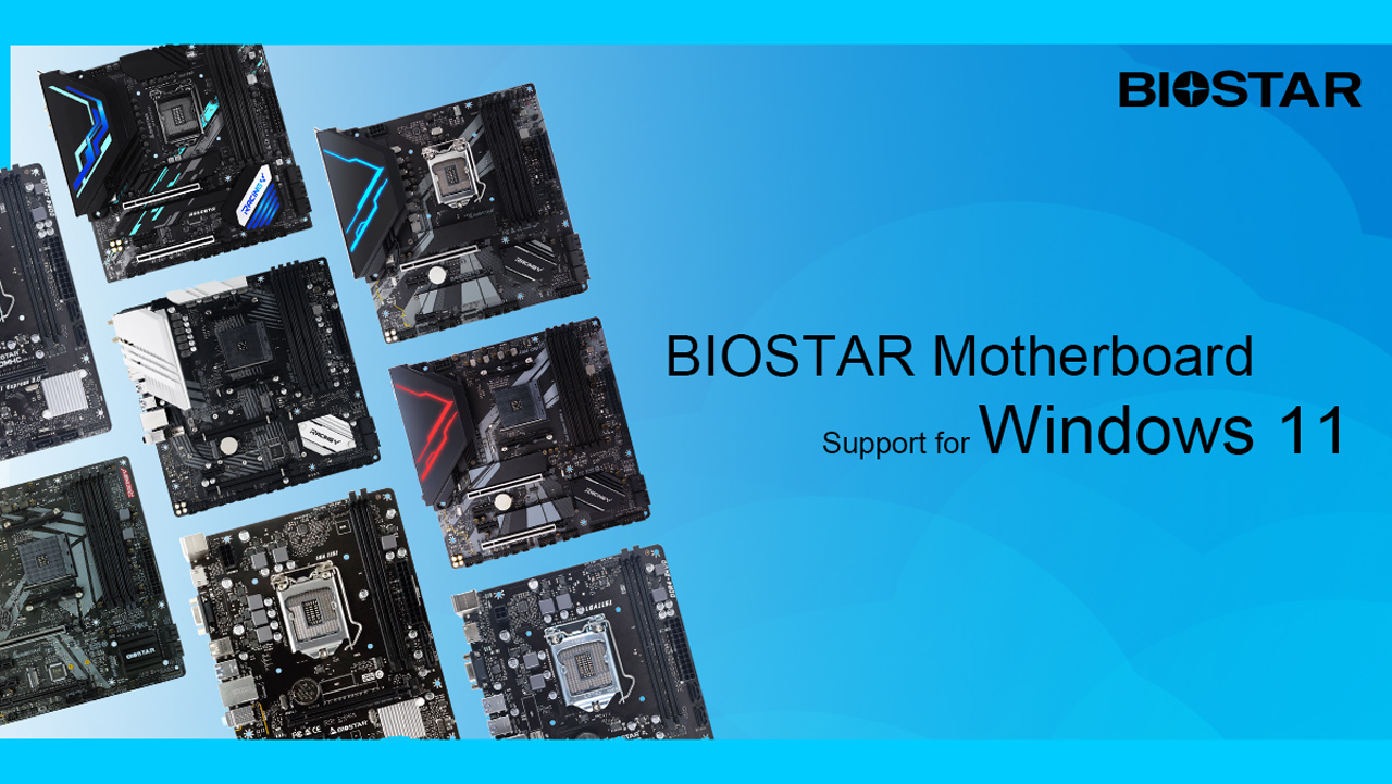 BIOSTAR Announces Motherboard Support for Windows 11 OS
