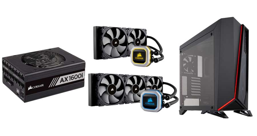 CORSAIR Launches New PSU, Coolers and Case at CES 2018