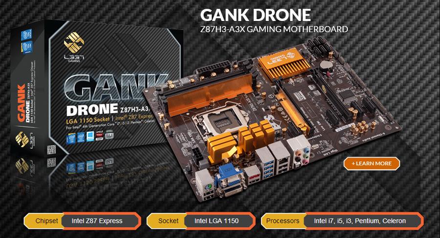 ECS-Z87-GANK-Drone-Motherboard