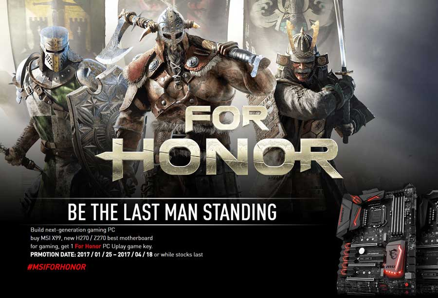 For Honor Gets Bundled With MSI Gaming Motherboards
