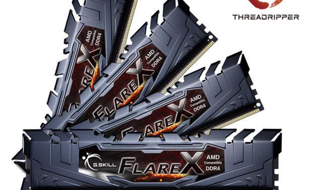 G.SKILL Announces Quad Channel DDR4 for AMD Ryzen Threadripper CPUs