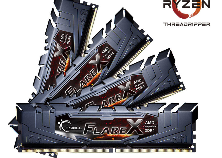 G.SKILL Announces Quad Channel DDR4 for AMD Ryzen Threadripper CPUs