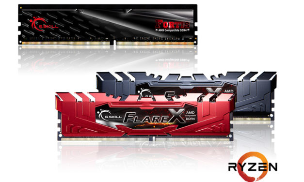 G.SKILL Announces The Flare X and FORTIS Memory Kits For AMD Ryzen