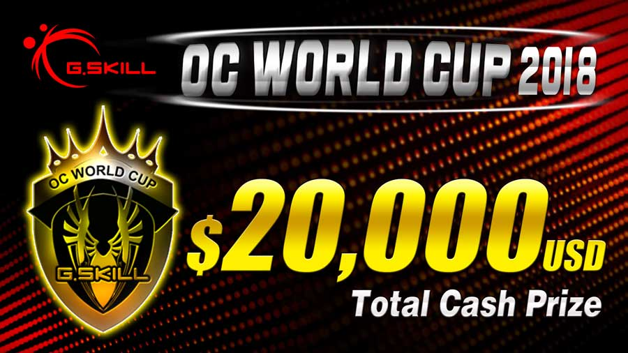 G.SKILL Announces The OC World Cup 2018 Competition