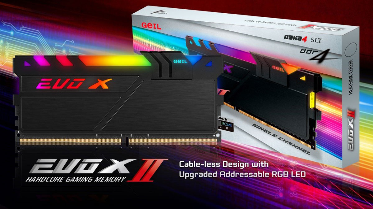 GeIL launches the EVOX II and EVO X II ROG-certified DDR4 Memory