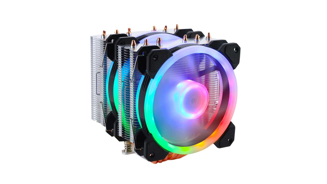 GELID Launches GLACIER RGB Twin-Tower CPU Cooler
