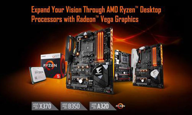 GIGABYTE Adds Support For AMD Ryzen with Radeon Vega Graphics