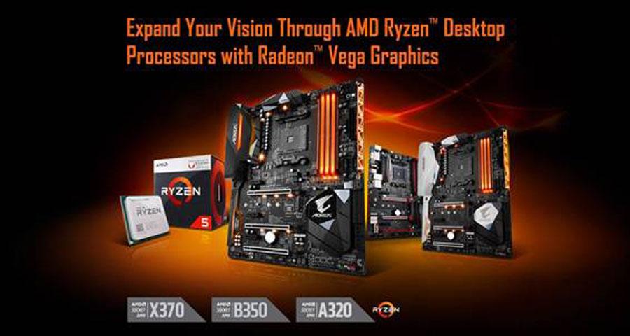 GIGABYTE Adds Support For AMD Ryzen with Radeon Vega Graphics