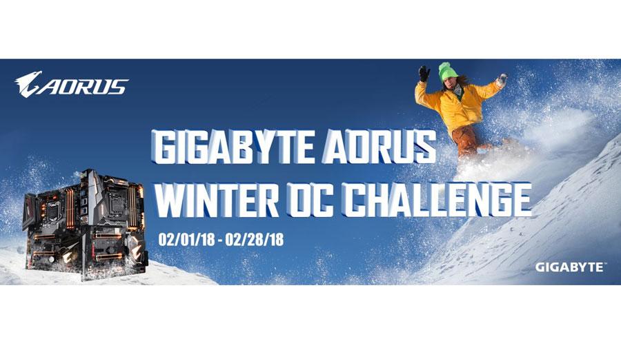 GIGABYTE AORUS Winter OC Challenge Announced