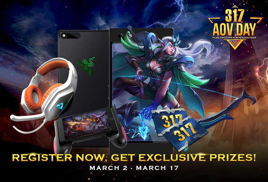 Garena Readies The Arena of Valor 317 Day Event