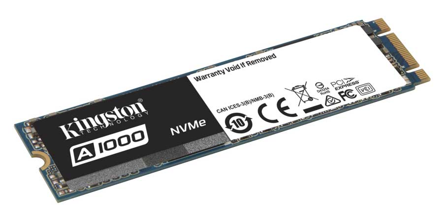 Kingston Introduces the A1000 Entry Level NVME SSD