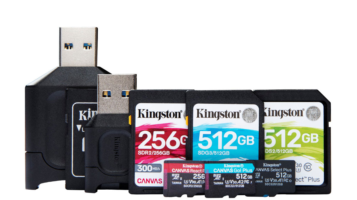 Kingston Refreshes Canvas Series Cards and MobileLite Plus Readers