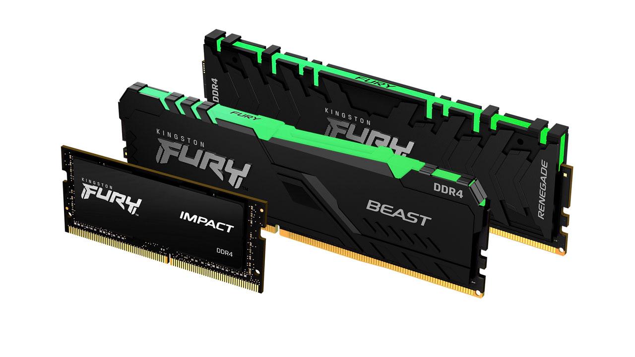 Kingston Updates FURY DDR4 Memory Lineup
