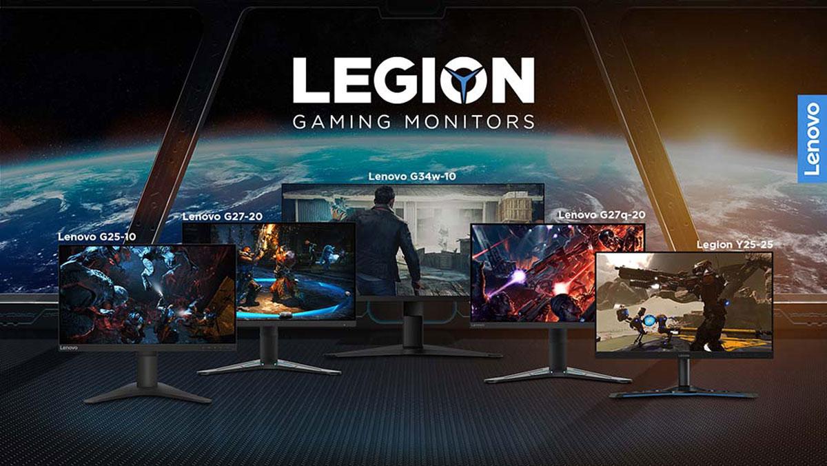 Lenovo Updates Legion Gaming Monitor Line-Up for 2021