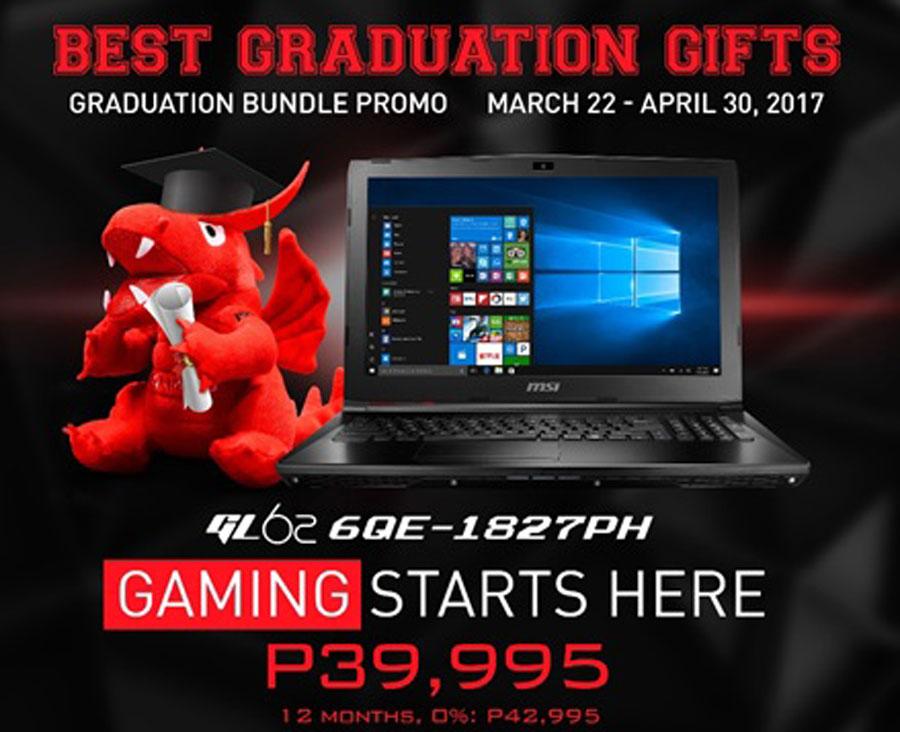 MSI Philippines Notebook Announces Graduation Promotion