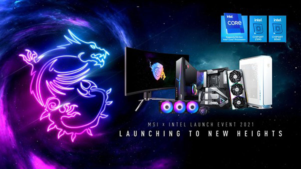 MSI x Intel Launch Event 2021 To Showcase Latest Platforms