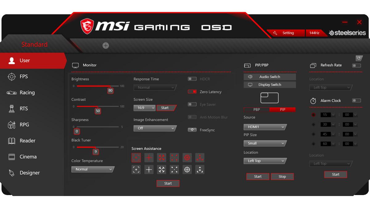 MSI Optix MPG341CQR Test 1