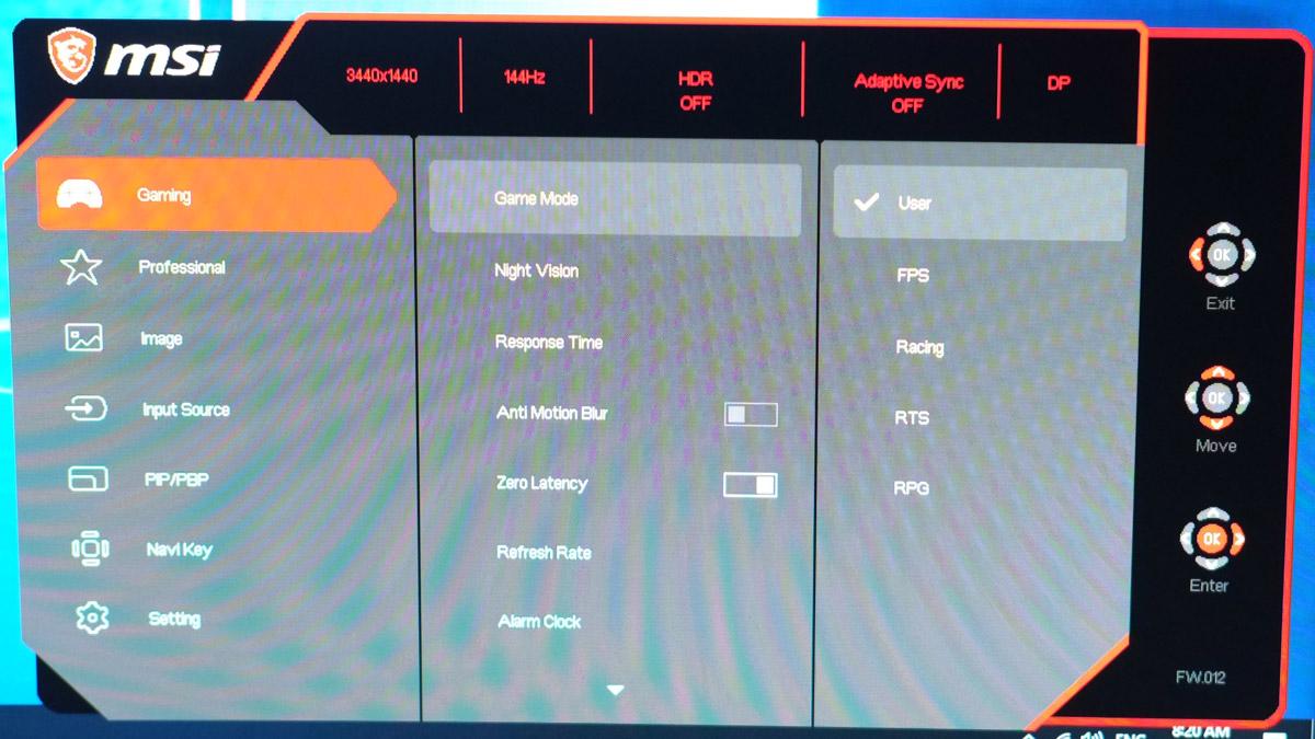 MSI Optix MPG341CQR Test 9