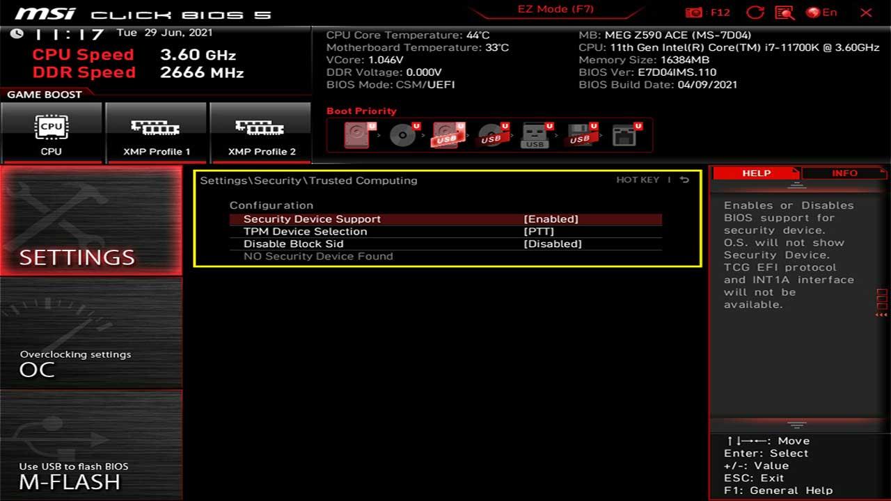 MSI TPM Windows 11 PR 1