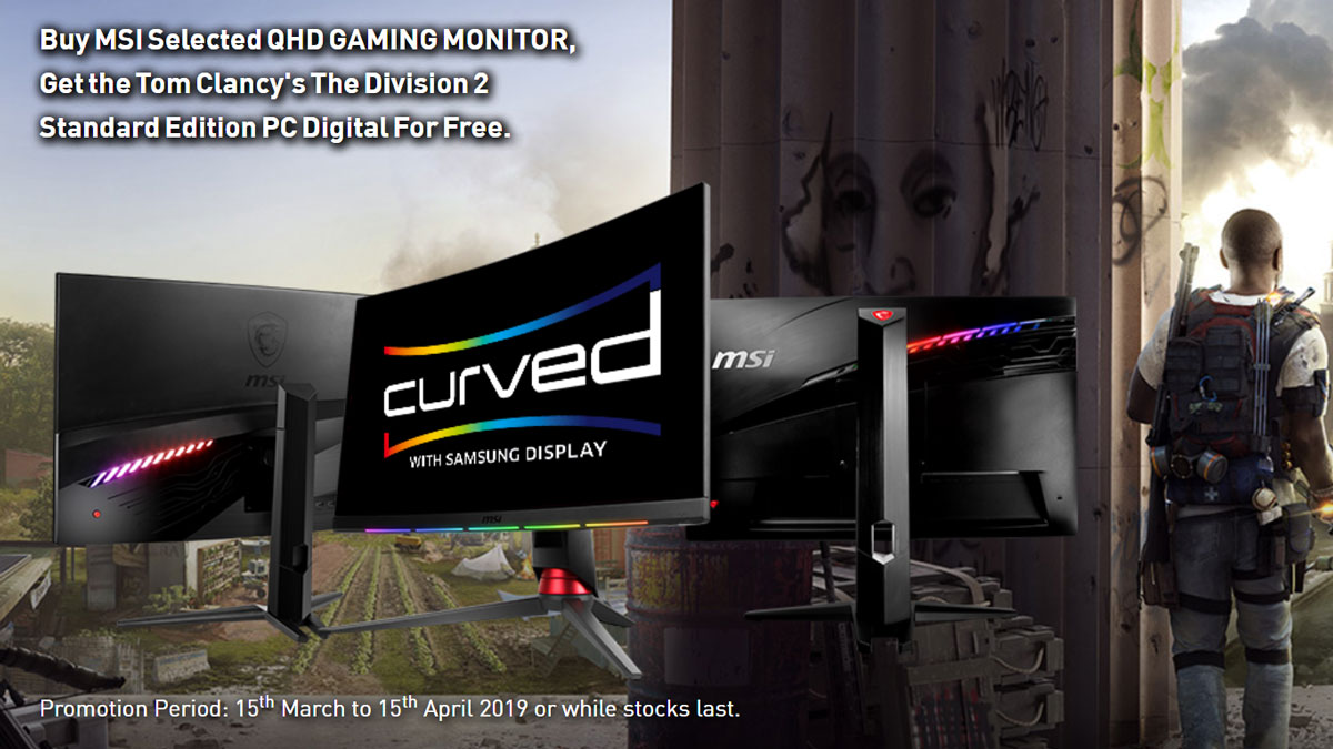 MSI Bundles QHD Gaming Monitors with Tom Clancy's The Division 2