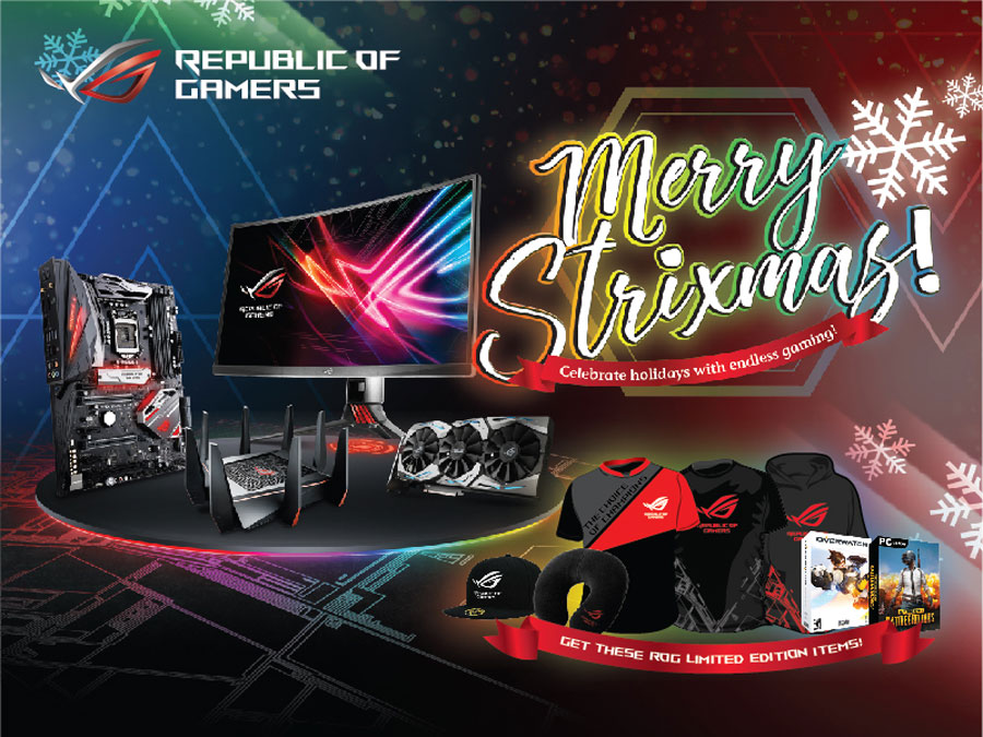 ASUS ROG Strixmas Bundles Merchandises and Games This Season