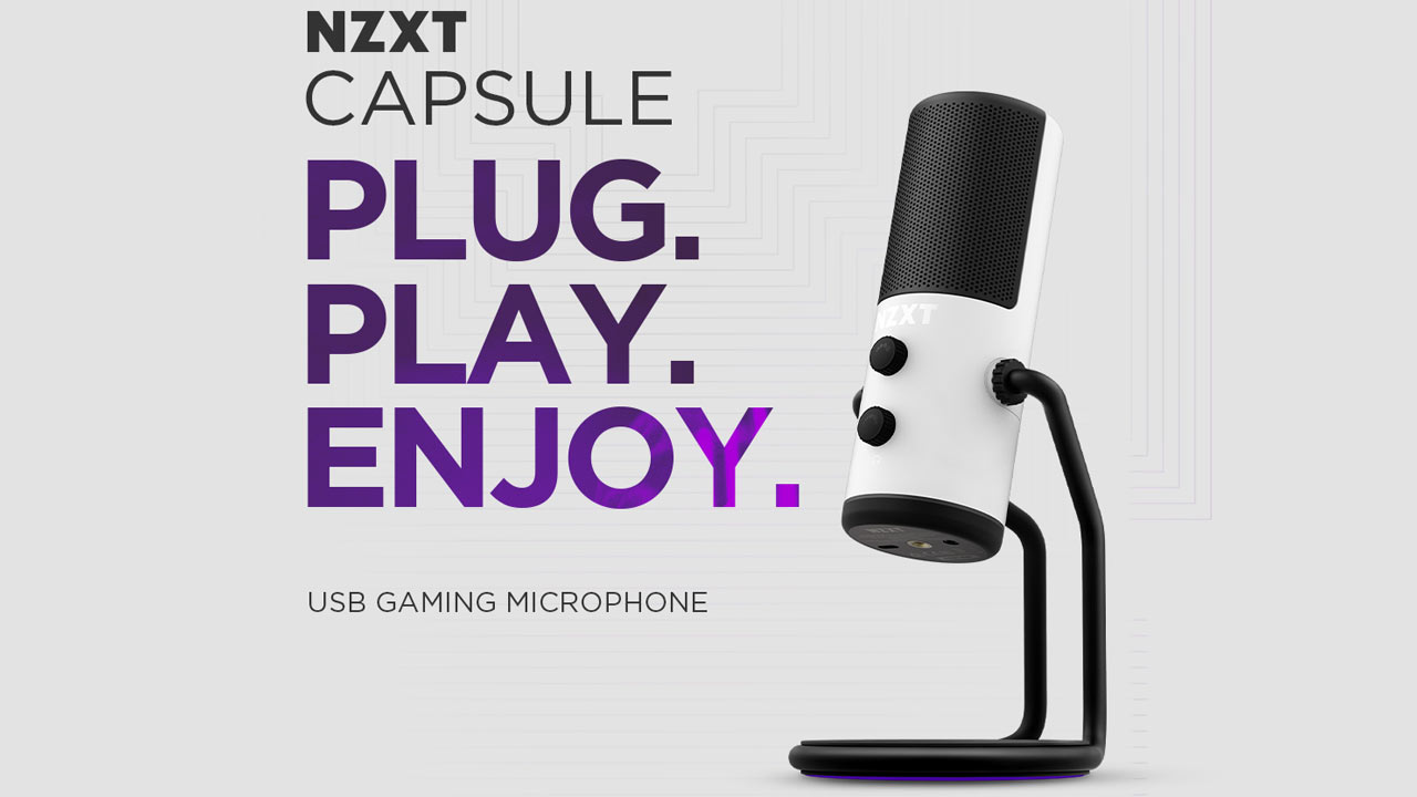 NZXT Announces Capsule USB Microphone and Boom Arm