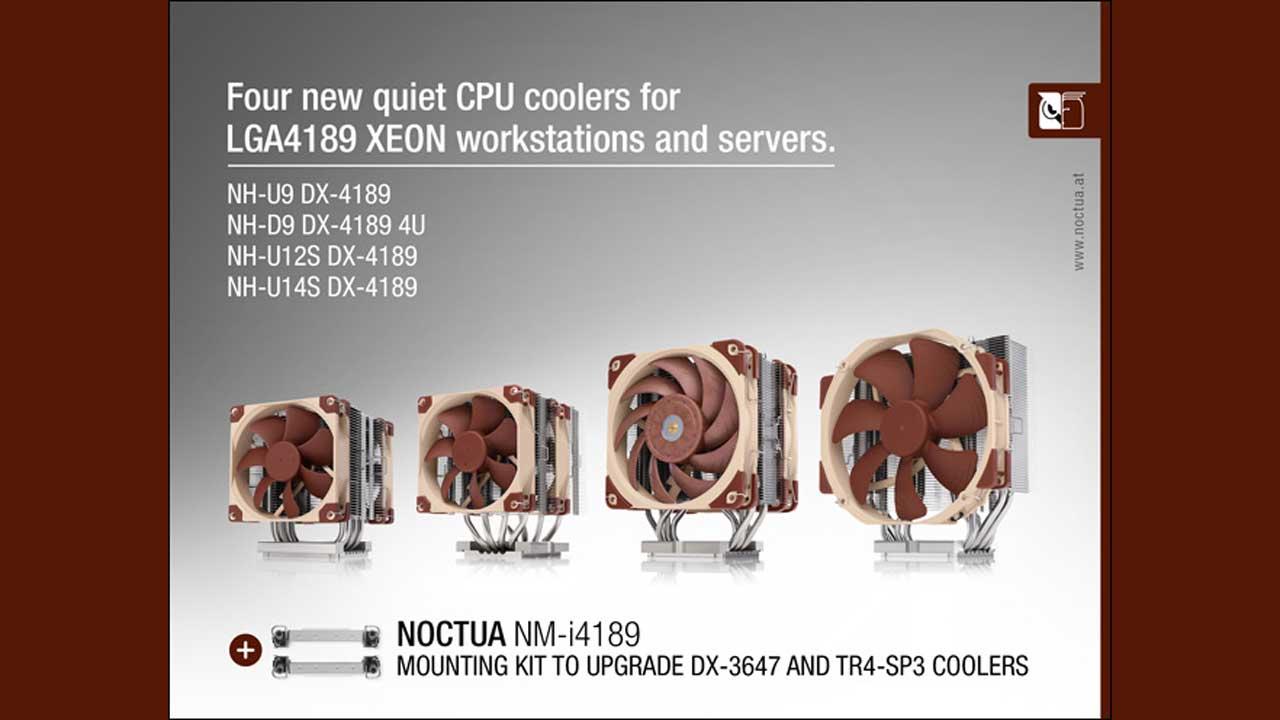 Noctua Announces CPU Coolers for the Intel LGA4189 Xeon Platform