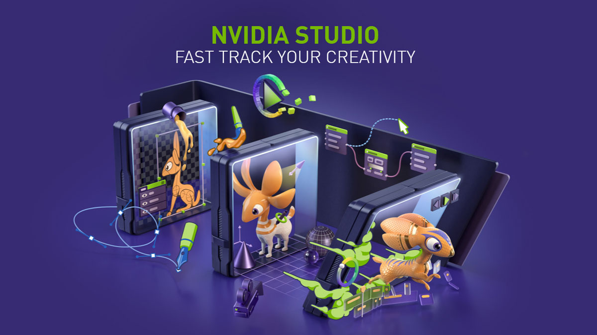 NVIDIA Studio Adds AI Powered Features to Creative Apps