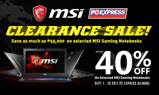 PCX MSI Gaming Notebook Clearance Sale 2017 Details