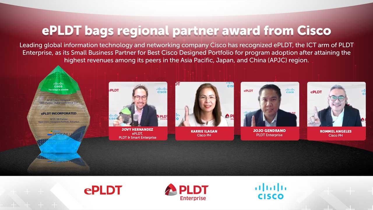 ePLDT Bags Regional Partner Award from Cisco