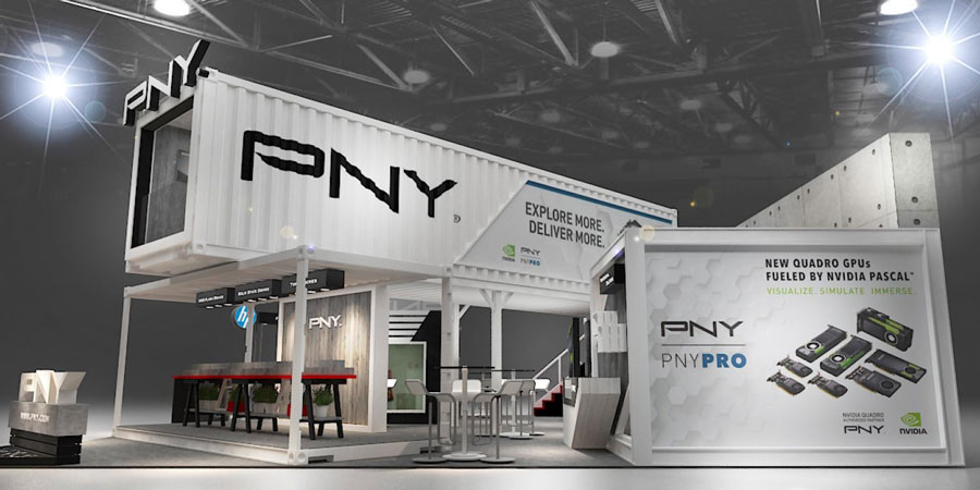 PNY Equips Booth with Shipping Container at COMPUTEX 2017