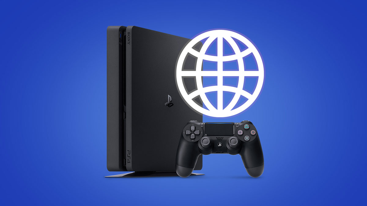 Where is the Internet Browser on a Console (PS4)