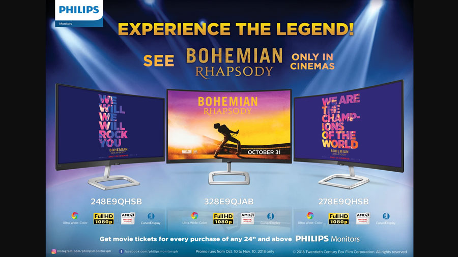 Get Free Tickets for Bohemian Rhapsody with Philips Monitors