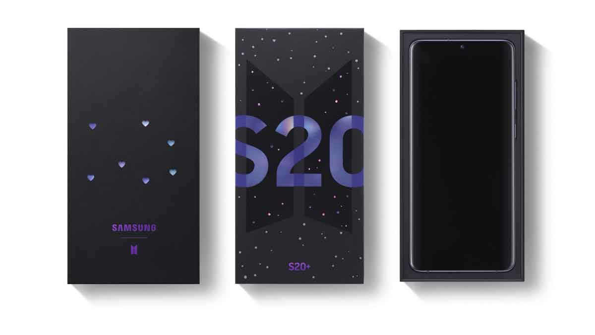 SAMSUNG Galaxy S20+ BTS Edition up for Pre-order
