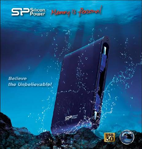 Silicon Power Flaunts Armor A80: Shock Proof & Water Proof!