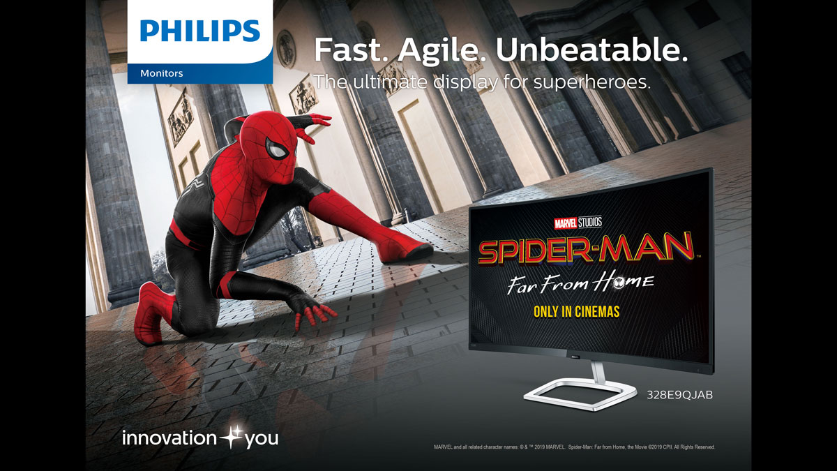 Philips Monitors Partners with Sony Pictures for Spiderman: Far From Home