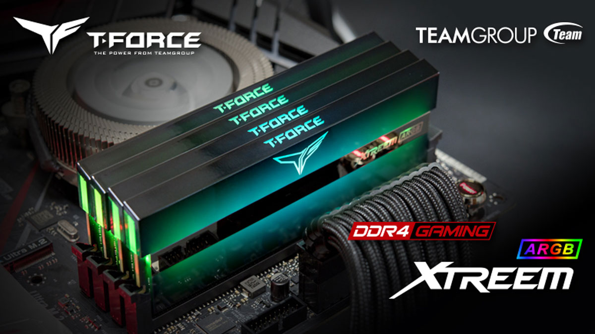 T-FORCE XTREEM ARGB Memory Takes World Record for Quad Channel Kits
