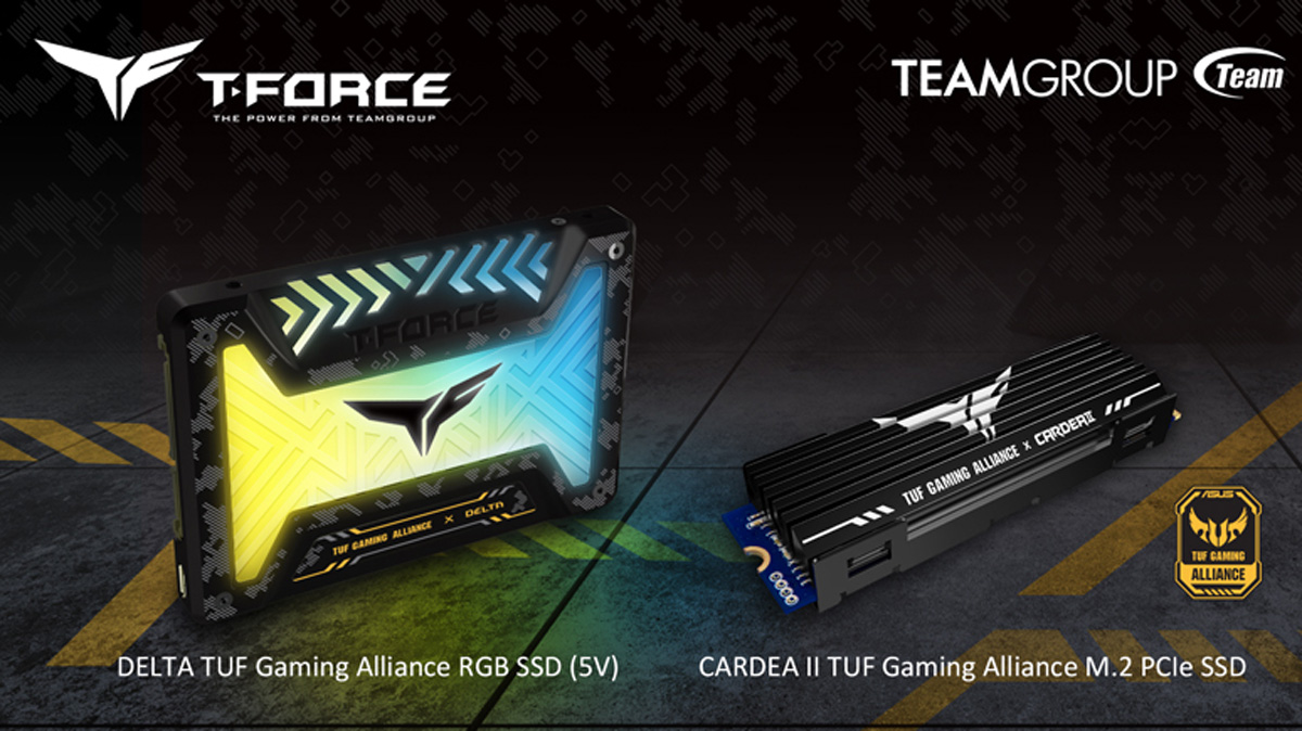 TEAMGROUP Announces TUF Gaming Alliance SSD Models