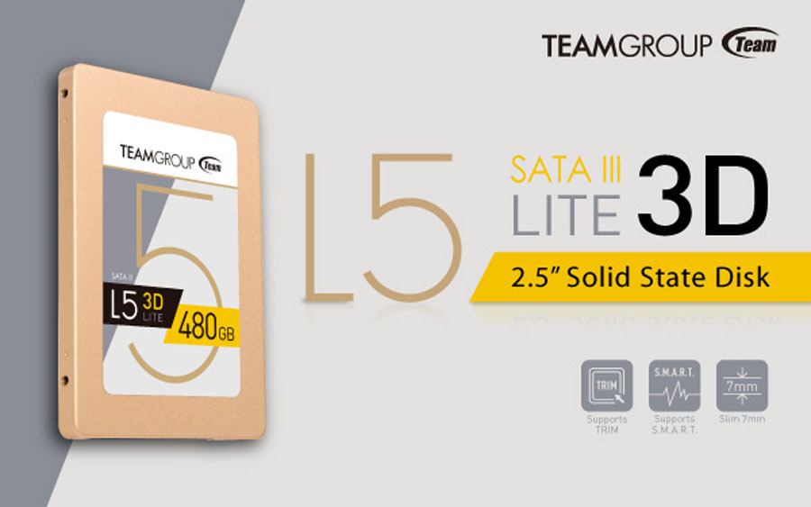 Team Group Launches The 3D NAND L5 LITE-3D SSD